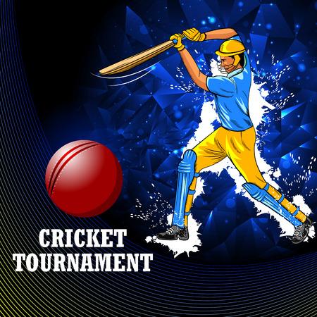 Player batsman in Cricket Championship Tournament Standard-Bild - 120544402