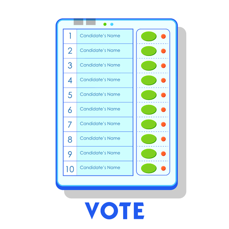 illustration of isolated Electronic Voting Machine in India 일러스트