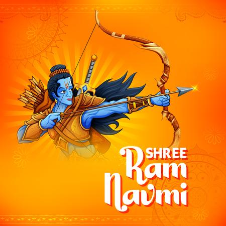 Shree Ram Navami celebrazione per la festa religiosa dell'India