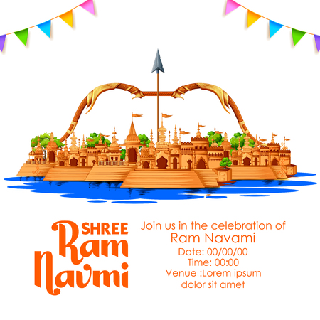 Shree Ram Navami celebration  for religious holiday of India