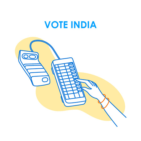 Concept  for Vote India for election democracy campaign banner