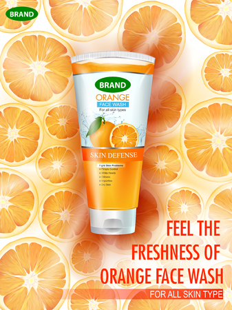 Advertisement promotion banner for cool and refreshing foaming face wash