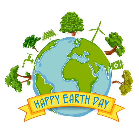 Earth Day concept for safe and Green Globe