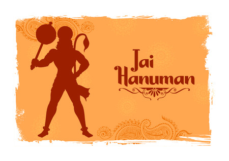 Lord Hanuman on abstract  for Hanuman Jayanti festival of India