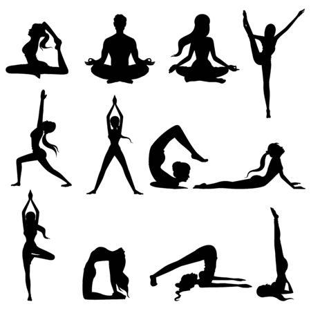 Frau macht Asana zum Internationalen Yogatag am 21. Juni