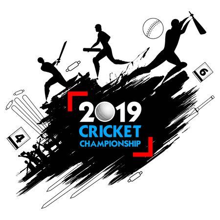 Batsman player playing cricket championship sports 2019