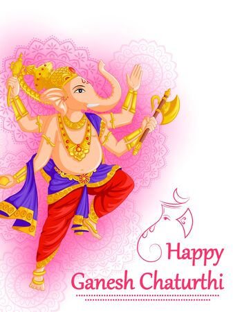 Happy Ganesh Chaturthi festival celebration of India