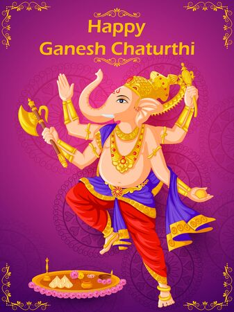 Lord Ganpati  for Happy Ganesh Chaturthi festival celebration of India