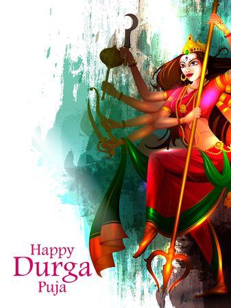 Happy Durga Puja India festival holiday Vektoros illusztráció