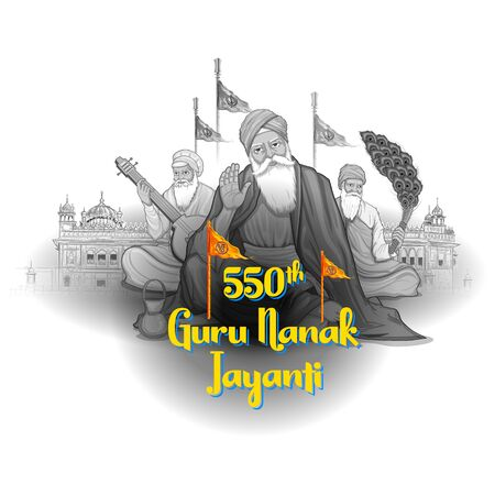 Happy Gurpurab, Guru Nanak Jayanti festival of Sikh celebration