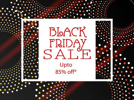 easy to edit vector illustration of Black Friday Sale Promotion advertisement banner template background 向量圖像