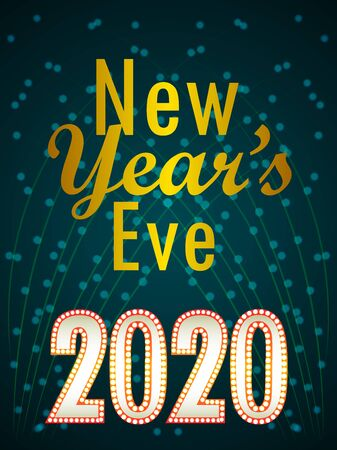 easy to edit vector illustration of Happy New Year 2020 wishes seasonal greeting background
