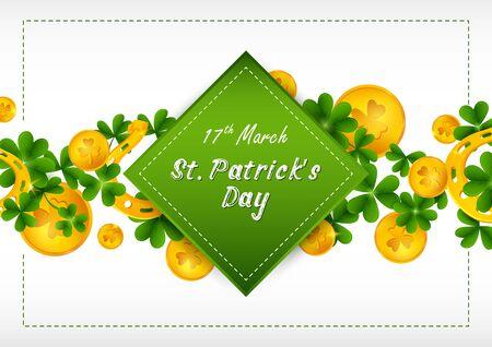 Happy Saint Patricks Day religious festival celebration background of Ireland