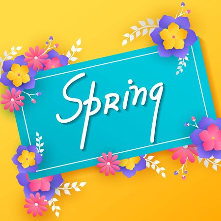 Beautiful fresh flower on floral spring background