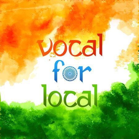 Förderung und Unterstützung der Vocal for Local-Kampagne von Indien, um es unabhängig und unabhängig zu machen