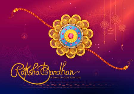 illustration of greeting card and template banner for sales promotion advertisement with decorative Rakhi for Raksha Bandhan, Indian festival for brother and sister bonding celebration 写真素材 - 151074897