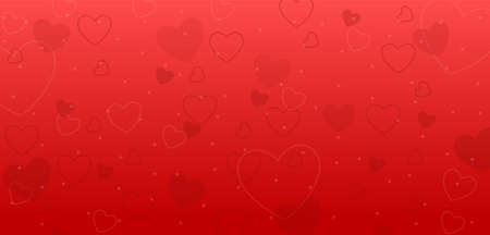 Love and romance heart background for Happy Valentines Day Иллюстрация