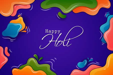 Colorful background for festival of colors Holi celebrated in India 矢量图像