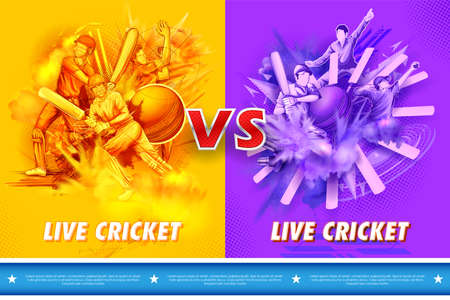 Batsman and bowler player playing cricket championship sports