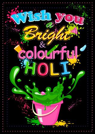 happy holi: Happy Holi, festival of colors . Vector illustration