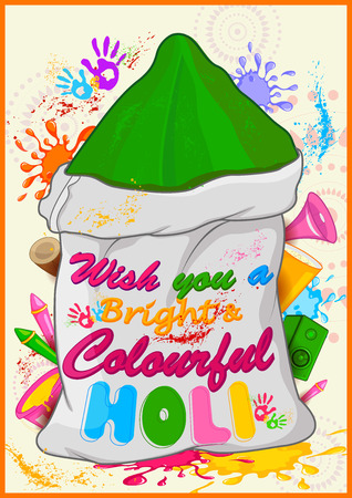 gulal: Happy Holi, festival of colors . Vector illustration