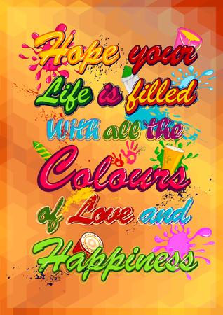 rang: Happy Holi, festival of colors . Vector illustration