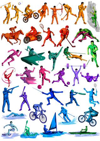 sportsman: Concept of sportsman playing Cricket. Vector illustration