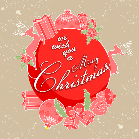 Merry Christmas holiday wishes background. Vector illustration Illustration