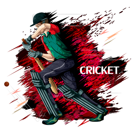 Concept of sportsman playing Cricket