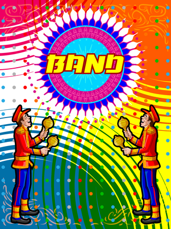 marching band: Marching Music Brass Band for festival celebration. Vector illustration