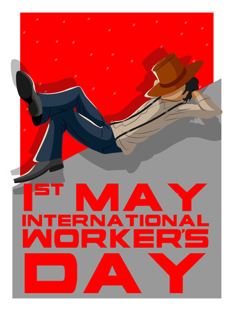Background concept for Happy May Day knows as Internation Workers Day. Vector illustration