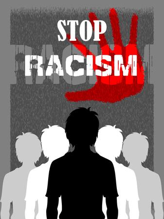 discriminate: Social Awareness concept poster for Stop Racism