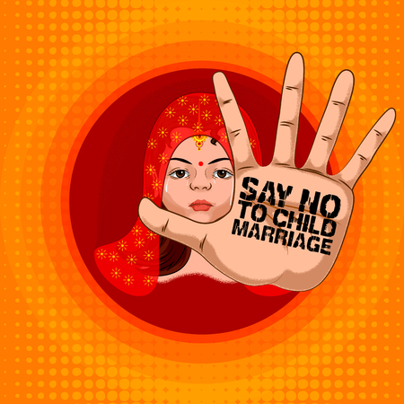 Social Awareness concept poster for Say No to Child Marriage