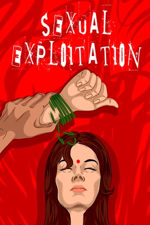 Social Awareness concept poster for Stop Sexual Exploitation