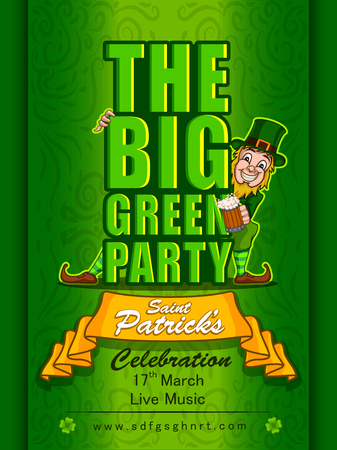 Greeting template for Saint Patricks Day Celebration