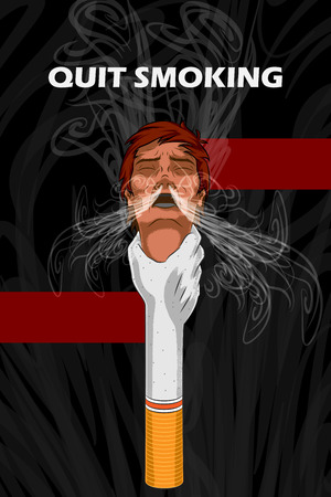quit: Social Awareness concept poster for Quit Smoking