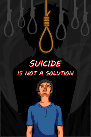 Social Awareness concept poster for Stop Sucide