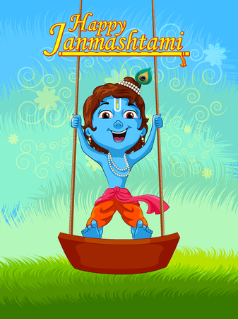 Lord Krishna Indian God Janmashtami festival holiday
