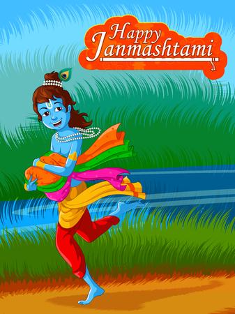 Lord Krishna Indian God Janmashtami festival holiday