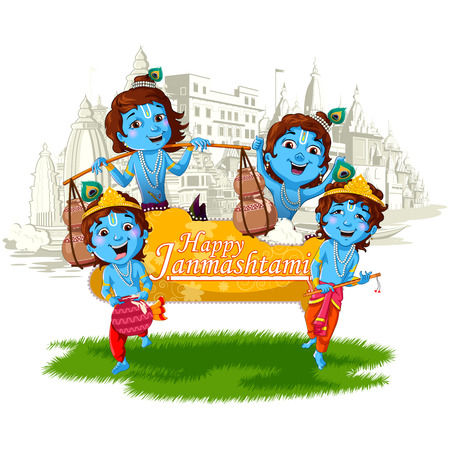 mahabharata: Lord Krishna Indian God Janmashtami festival holiday
