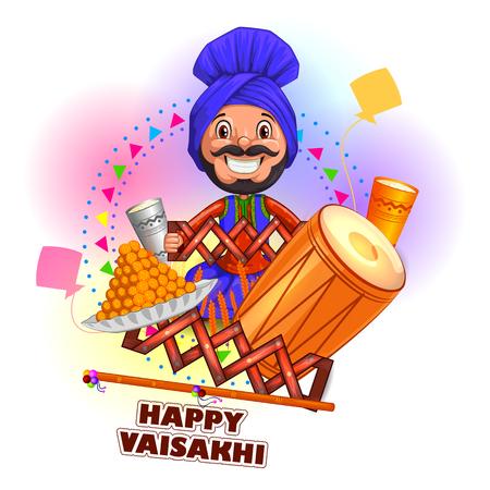 Happy Vaisakhi New Year festival of Punjab India