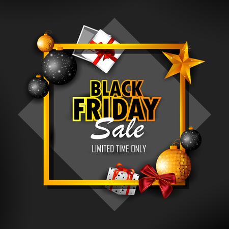 Black Fridya Sale for advertisement promotion background. Vector illustration