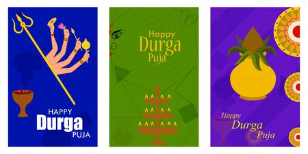 Happy Durga Puja festival India holiday sale promotion banner background