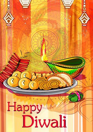 Joyeux festival traditionnel de Diwali de l'Inde fond de voeux