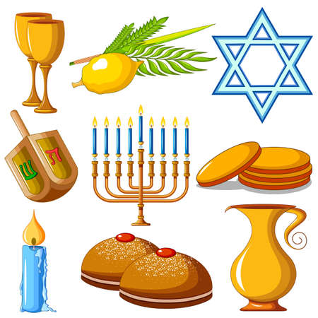 Israel Holiday for Festival of Light Happy Hanukkah celebration background
