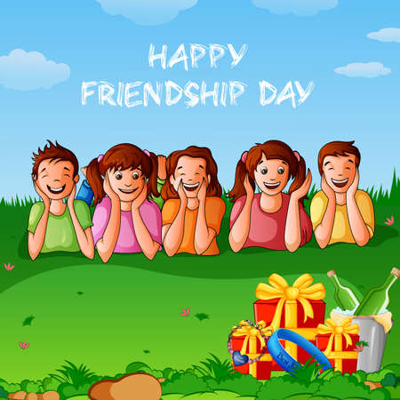 Happy Friendship Day greeting background template for banner design