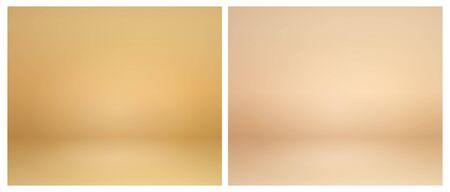 Beige studio lighting. Soft beige neutral 3d studio background. Warm soft light gold studio lighting. Photostudio soft box neutral lighting. Illusztráció