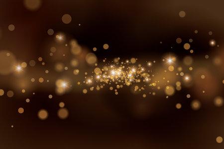 Abstract brown sparkle background. Blurred star dust background. Ilustração Vetorial