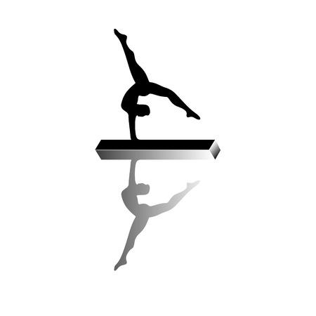 Gymnastic girl isolated on white Illustration