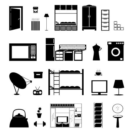 microwave antenna: Forma de muebles aislado en blanco